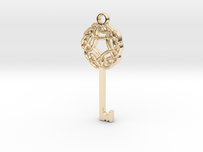 Friggjarlykill #3  - Key of Frigg in 14K Yellow Gold