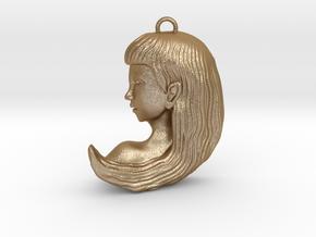 Virgo Pendant in Matte Gold Steel