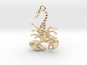 Scorpio Pendant in 14K Yellow Gold