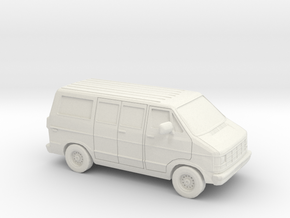 1/87 1986-93 Dodge Ram 150 Van in White Natural Versatile Plastic