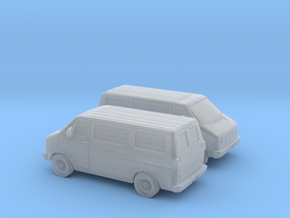 1/160 2X 1986-93 Dodge Ram 150 Van in Smooth Fine Detail Plastic
