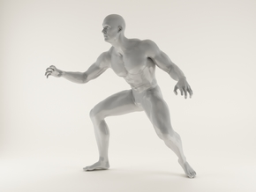 2016004-Strong man scale 1/10 in White Processed Versatile Plastic