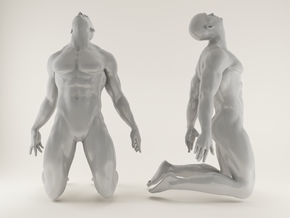 2016005-Strong man scale 1/10 in White Processed Versatile Plastic