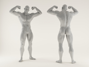 2016017-Strong man scale 1/10 in White Processed Versatile Plastic