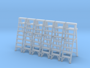 Stepladder 02. 1:64 scale in Smooth Fine Detail Plastic