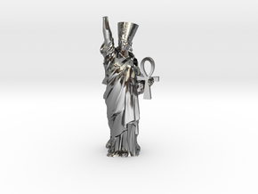Nefertiti Liberty pendant in Fine Detail Polished Silver