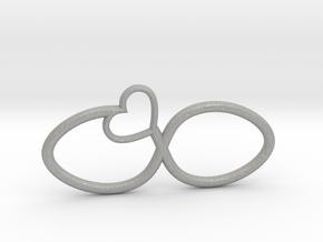 Eternal Heart Pendant in Aluminum