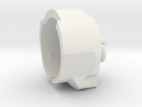 E-11 End Cap in White Natural Versatile Plastic