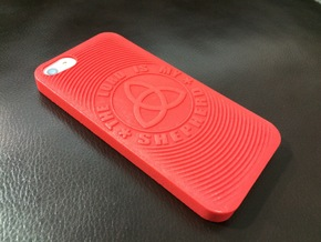 PS.23 Case - Original ( iPhone 5, 5S & SE ) in Red Processed Versatile Plastic