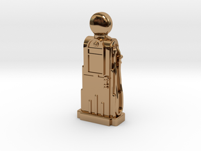 28mm/32mm Scale - 1940's/1950's Petrol Pump  in Polished Brass