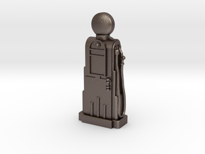 28mm/32mm Scale - 1940's/1950's Petrol Pump  in Polished Bronzed Silver Steel