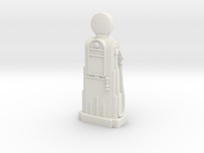 28mm/32mm Scale - 1940's/1950's Petrol Pump  in White Natural Versatile Plastic