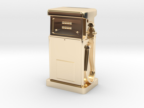 28/32mm Gauge - 1980's Petrol Pump in 14k Gold Plated Brass