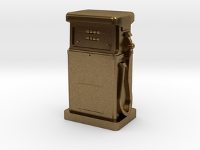 HO/OO Gauge - 1980's Petrol Pump in Natural Bronze