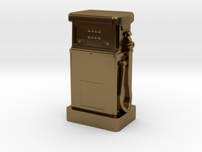 N Gauge - 1980's Petrol Pump in Polished Bronze