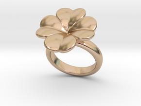 Lucky Ring 24 - Italian Size 24 in 14k Rose Gold Plated Brass