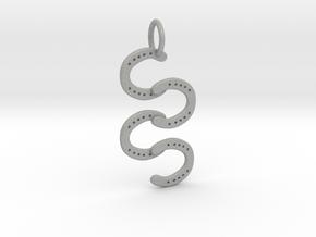 Horse Shoe pendant in Aluminum
