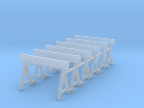Traffic Barrier 01. 1:64 Scale in Smooth Fine Detail Plastic
