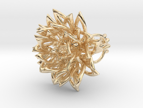 Ring the Chrysanthemum / size 6 US (16,5 mm) in 14k Gold Plated Brass