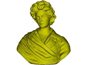 1/9 scale Percy Bysshe Shelley bust in Frosted Ultra Detail