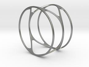 Thin bracelet - 67mm diameter in Natural Silver