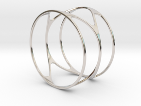 Thin bracelet - 67mm diameter in Rhodium Plated