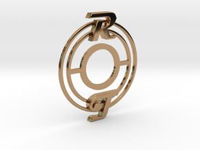 Pickup Selector Plate - Magneto R/T With Circle Tr in Polished Brass