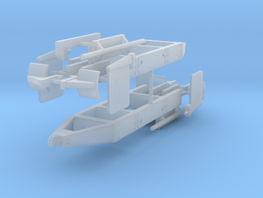 1/64th Log truck end frame 1 with details (2) in Smooth Fine Detail Plastic