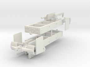 1/50th Log truck end frame 2 with details (2) in White Natural Versatile Plastic