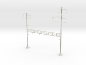 PRR NORTH PHILLY LATTICE STRUCTURE 4 TRACK  in White Natural Versatile Plastic