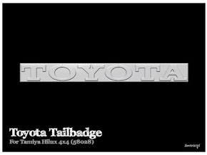 Simensays Hilux 4x4 Toyota Tailgate Badge in White Processed Versatile Plastic