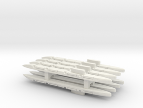 Echo-Class SSGN x 8, 1/2400 in White Natural Versatile Plastic