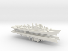 Mitscher class DL x 4, 1/1800 in White Natural Versatile Plastic