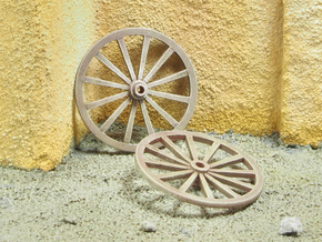 Wagon Wheels in 1/35 scale in Smoothest Fine Detail Plastic