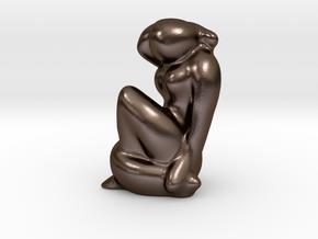 """""""Nu bleu """" interpretation by jr in Polished Bronze Steel"""
