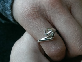 A-LINE Dancing D.03, US size 3.5, d=14,5mm in Polished Silver: 3.5 / 45.25
