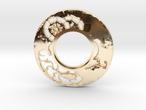 MHS compatible Tsuba 6 in 14k Gold Plated Brass