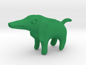 Sobek Dog in Green Processed Versatile Plastic