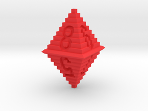 d8 Pixel Pyramid in Red Strong & Flexible Polished