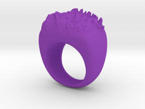 Moon Ring in Purple Processed Versatile Plastic