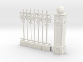 Iron Fence 4+1 cm in White Natural Versatile Plastic