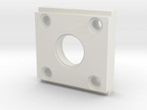 Rmp Bearingholder Cutout V2 in White Natural Versatile Plastic