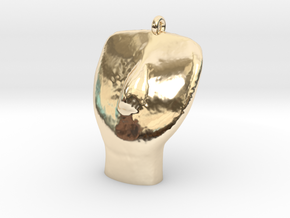 Cycladic Head Pendant in 14K Yellow Gold