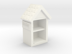 Little Library Part# 1: Bookshelf in White Strong & Flexible Polished
