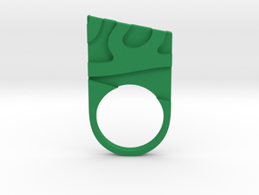 Solid geometry ring in Green Strong & Flexible Polished