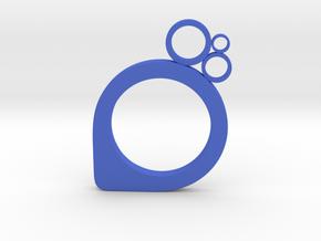 Subcircle ring in Blue Processed Versatile Plastic