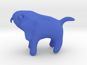 Horus Dog in Blue Processed Versatile Plastic