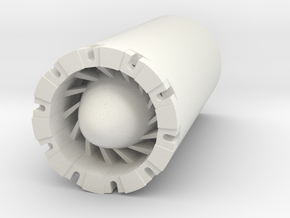 Reactor Blade Plug  in White Natural Versatile Plastic