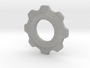 Gears Of War Cog Octus Service Medal in Raw Aluminum