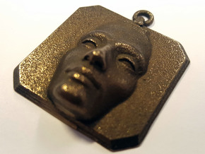 Nefertiti Amulet in Polished Bronze Steel
